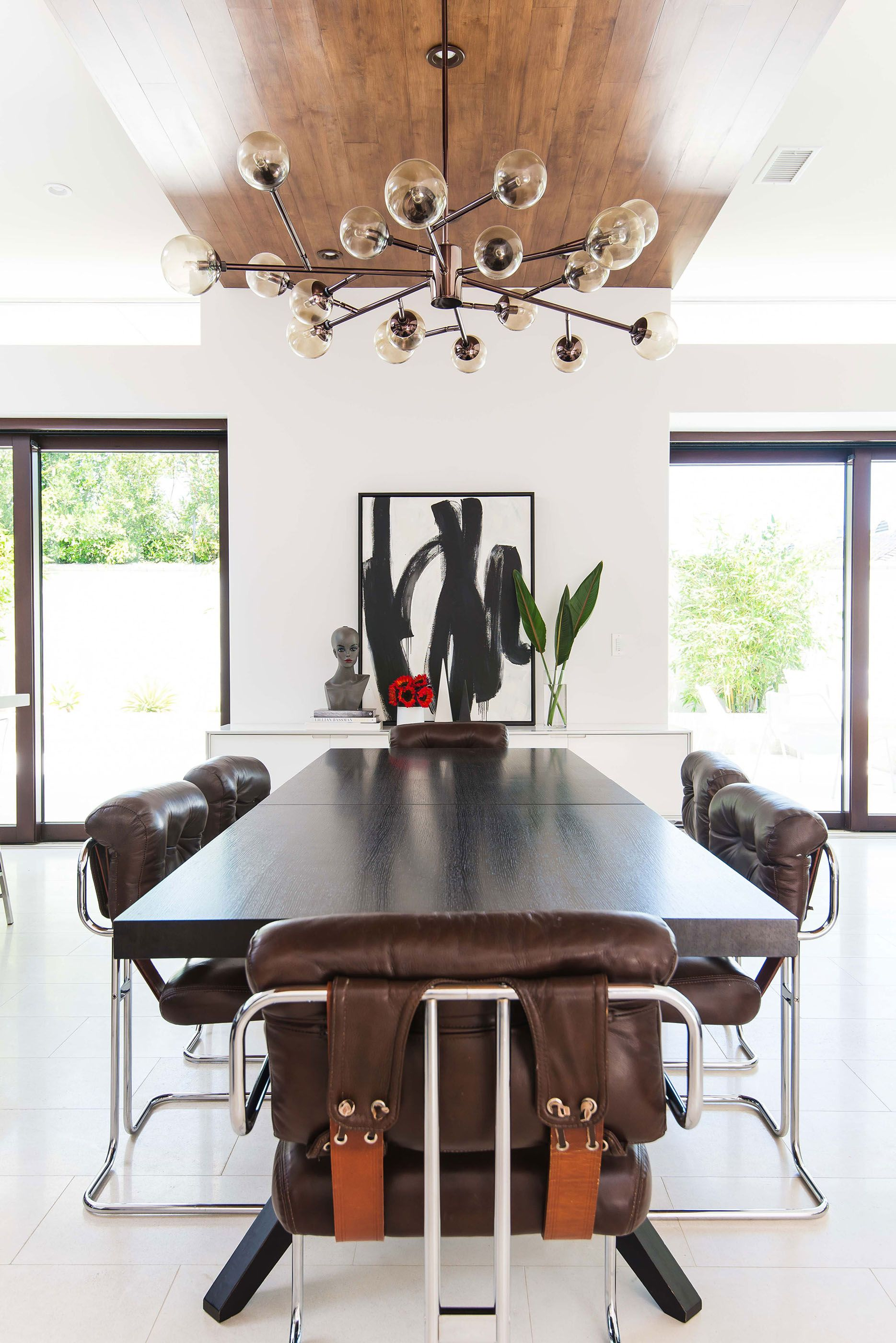 Pretty Modern Brown Leather Dining Chairs Contemporary Wood Dining Table Leather Chrome By Contemporary Wood Dining Table Wood Dining Table Eclectic Furniture