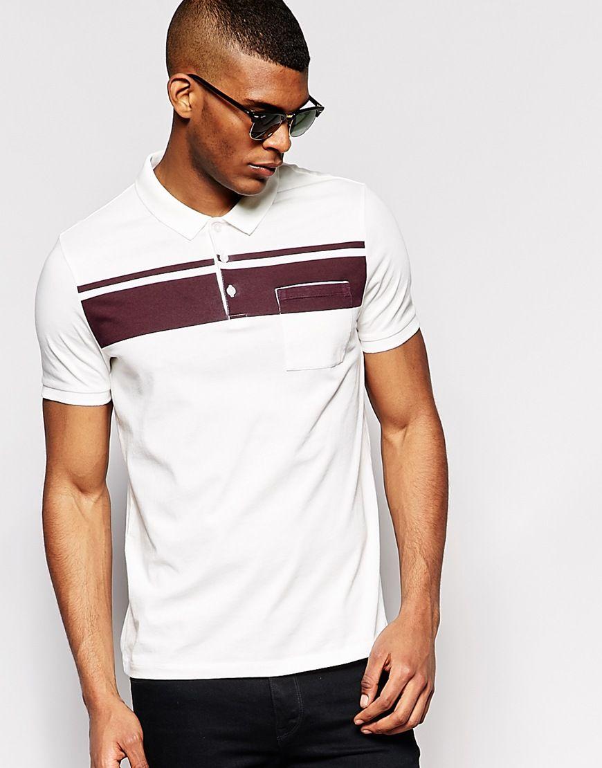 d2de599d3b ASOS Polo Shirt With Stripe