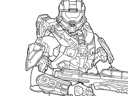 halo character coloring pages google