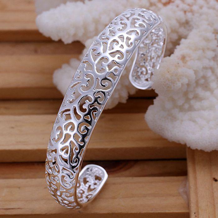 925 Silver plated bangle bracelet