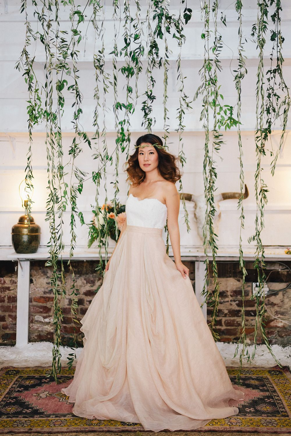 Peach Rustic Boho Wedding Inspiration u Bridal Dresses