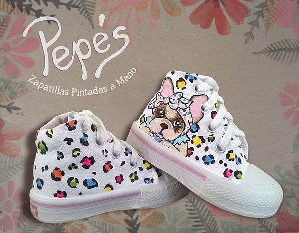 TRABAJOS | Zapatillas pintadas, Zapatillas pintadas a mano