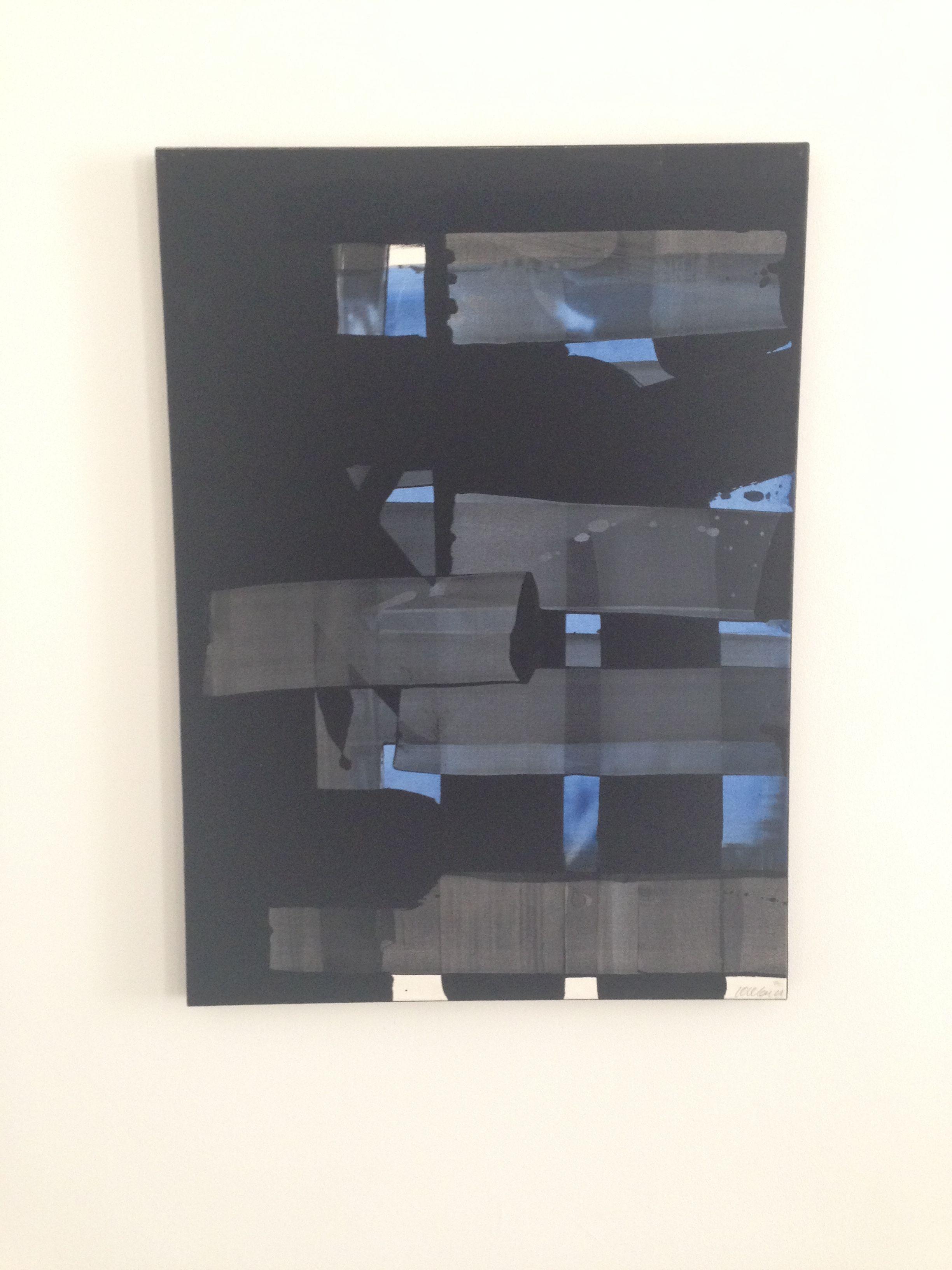 """Pierre Soulages """"Gouache sur papier 75,1 X 54,6cm"""" (1973), Musée Picasso, Antibes,Côte d'Azur (French Riviera), by www.yourguideboba.com"""