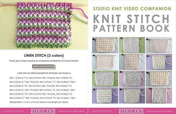Knit Stitch Pattern Book For Beginning Knitters By Youtube S Studio