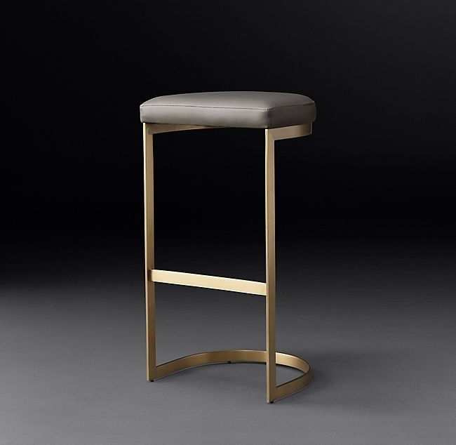 Astonishing 1960S Rome Leather Backless Stool In 2019 Carissa Machost Co Dining Chair Design Ideas Machostcouk