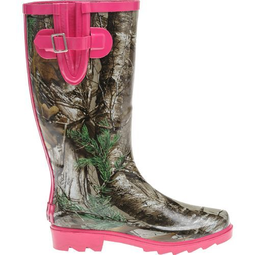 Game Winner Camo Boots Waterproof Pink Lining Womens US Sz 7