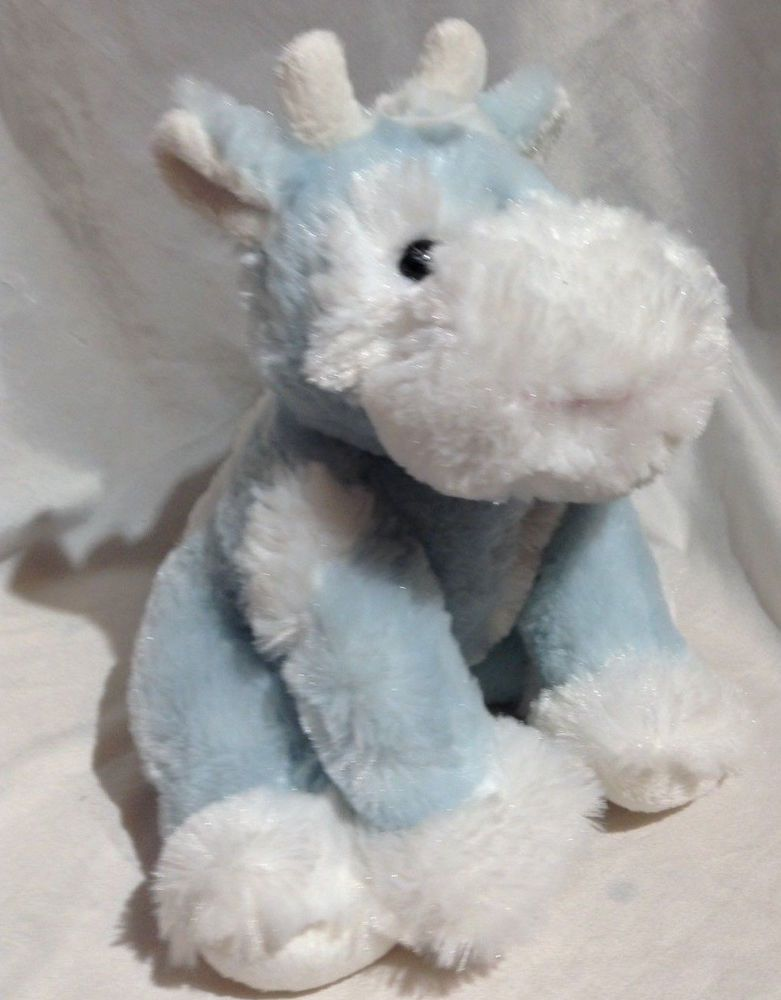 Kid Parade Fuzzy Blue Cow Plush Stuffed Animal Lovey Baby Toy Rare Htf Kidparade Plush Stuffed Animals Blue Cow Baby Toys