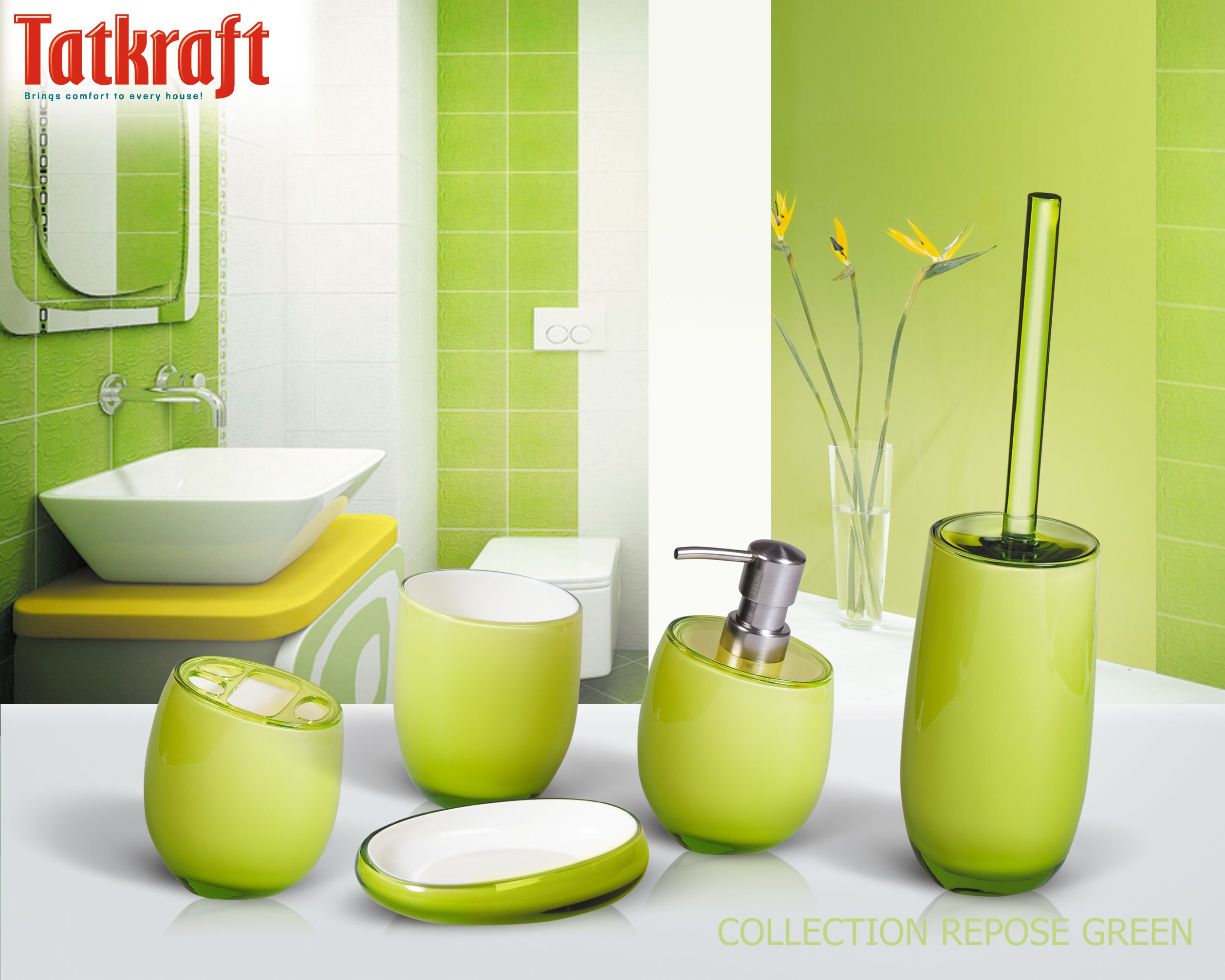 Collection Repose Green From Tatkraft Amazon Uk Acrylic