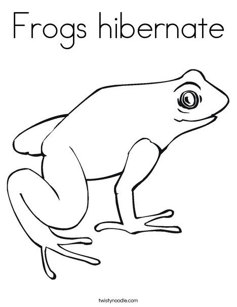 Frogs Hibernate Coloring Page Twisty Noodle Preschool Ideas