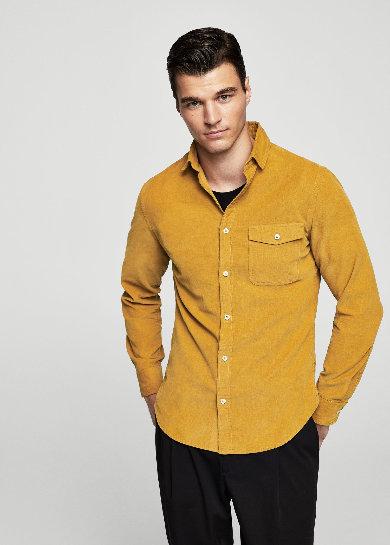 739b568035 Camisa slim-fit algodón pana - Camisas de Hombre
