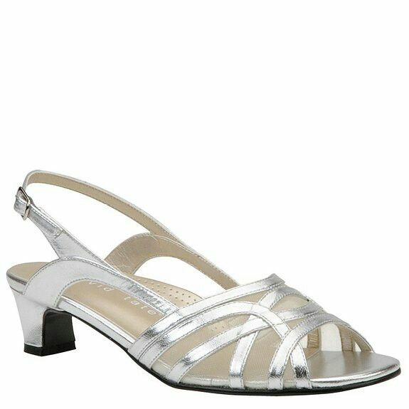 a8e032719470 Comfortable silver sandals for evening. They even have arch support ...