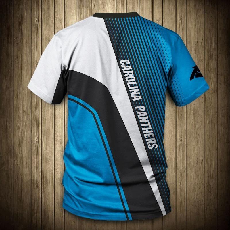 check out cad00 41bfb NFL T shirt Cheap 3D Custom Carolina Panthers T shirt Sale ...