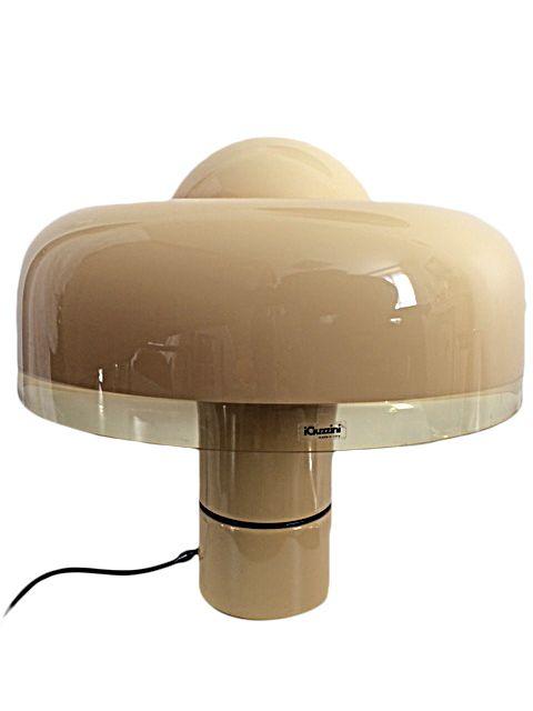 Brumbry Guzzini Lampe De Salon 1970 Modele Rare For Sale Www