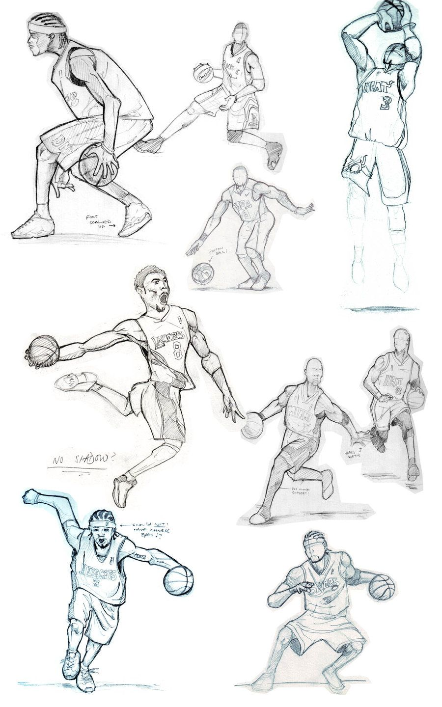 Basketball Sketches By Fatratking On Deviantart Sports Drawings Basketball Drawings Sketches