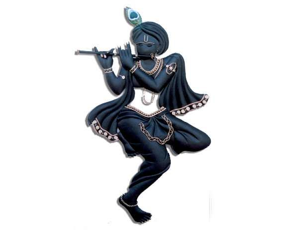 Buy black krishna wall hanging online shopping India Home decor