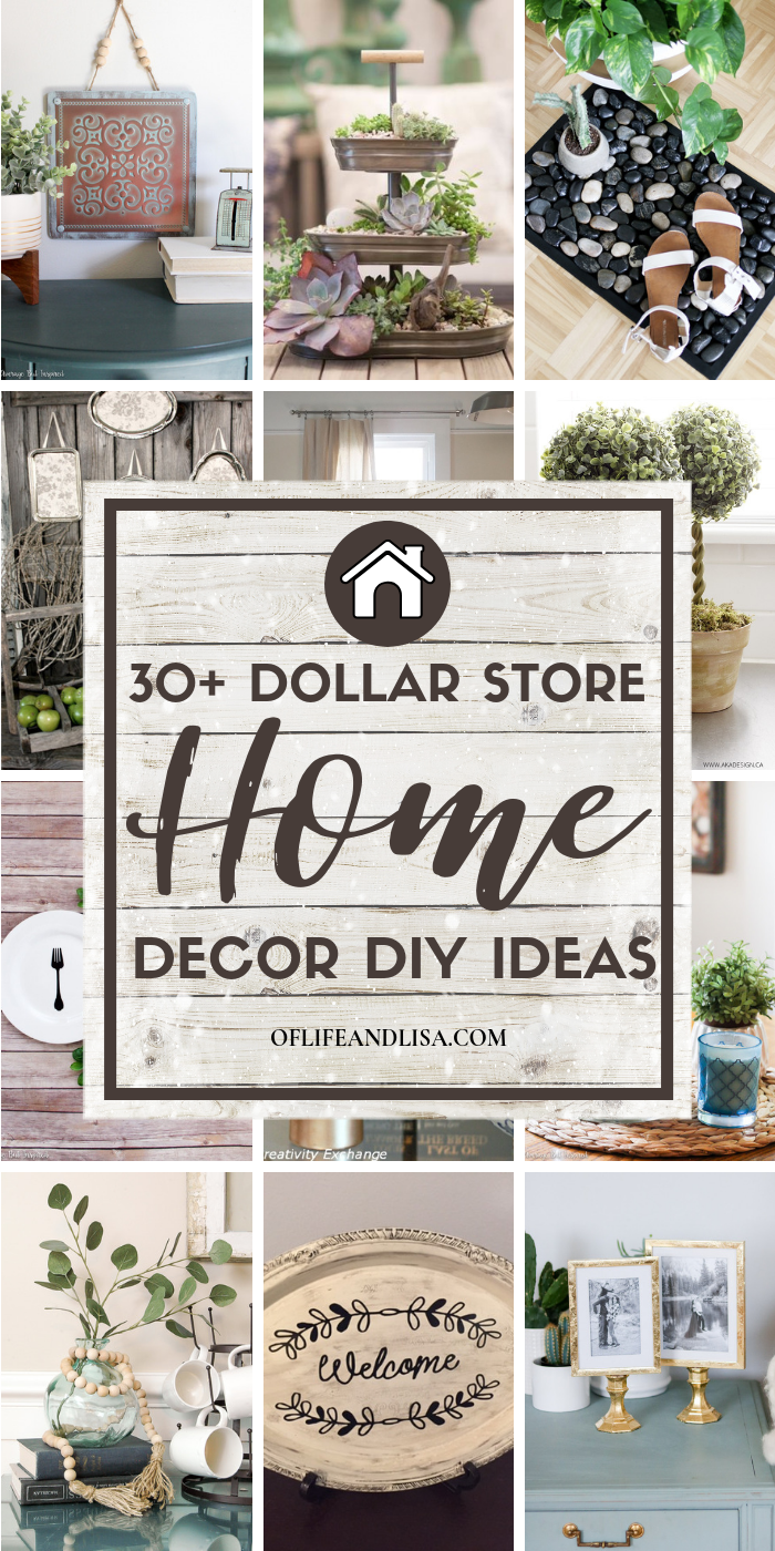 30 DIY Dollar Store Decor Ideas Youll Love Learn how to turn ordinary dollar store items into fabolous decor pieces that wont break the bank