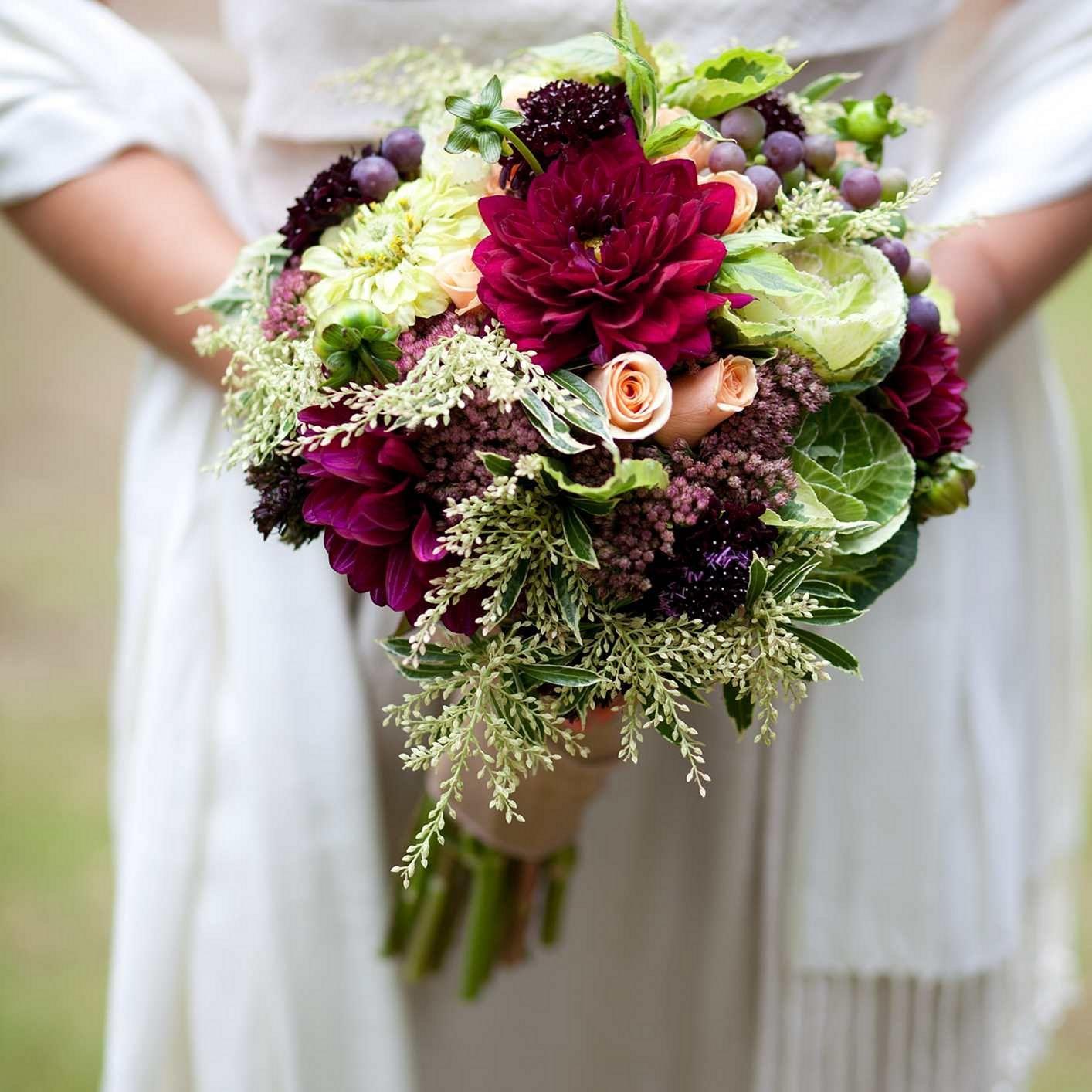 fall flower bouquet wedding