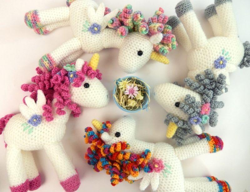 Curlicue The Unicorn Amigurumi Pattern By Janine Holmes At Moji Moji