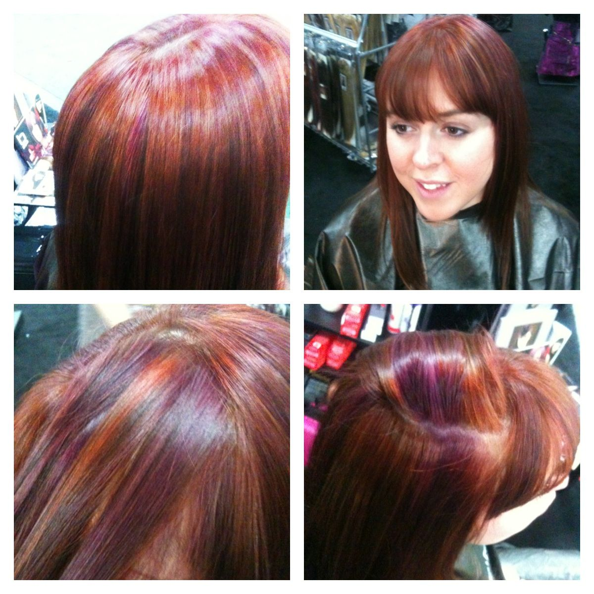 Superb Natural Red Hair With Red Highlights And Burgundy Lowlights Edgy Short Hairstyles For Black Women Fulllsitofus