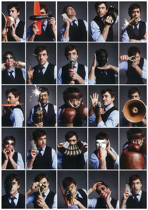Robert Downey Jr. I could see Garrett doing a photo shoot like this. I should probably make it happen.