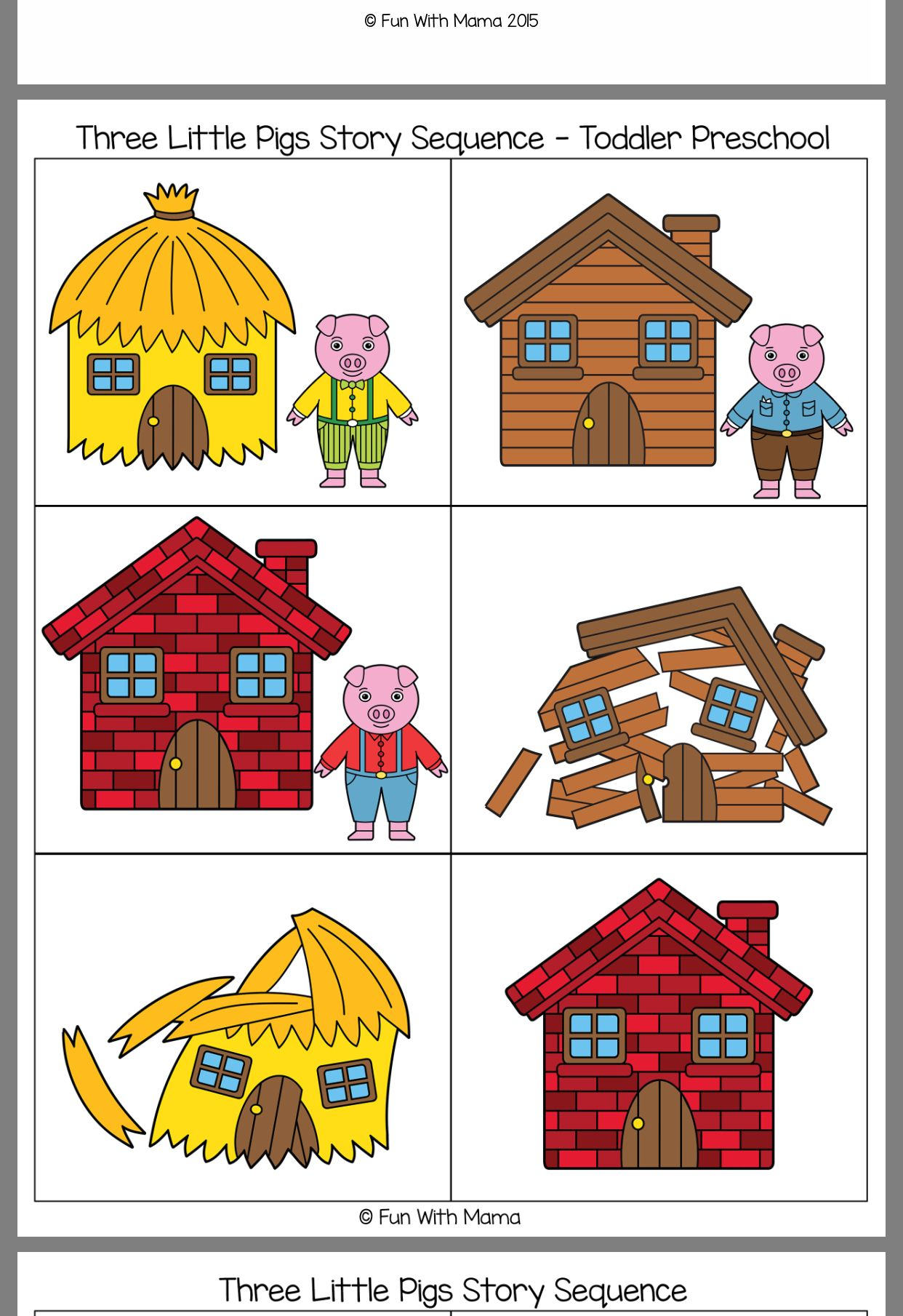 Pin By Theresa Notskas On February Three Little Pigs Educational Crafts Sequencing Cards [ 1809 x 1242 Pixel ]