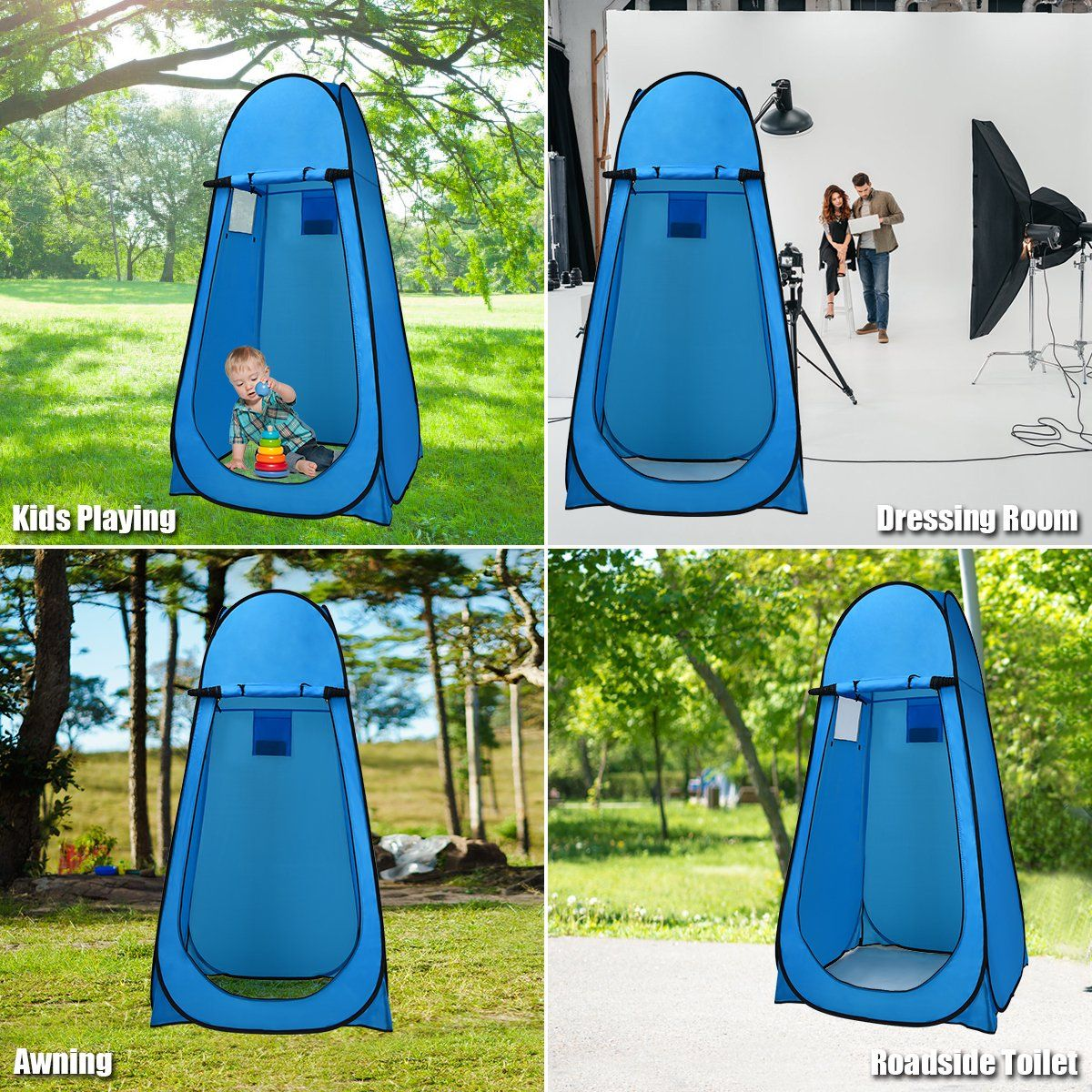 Costway Portable Pop up Camping Fishing Bathing Shower ...