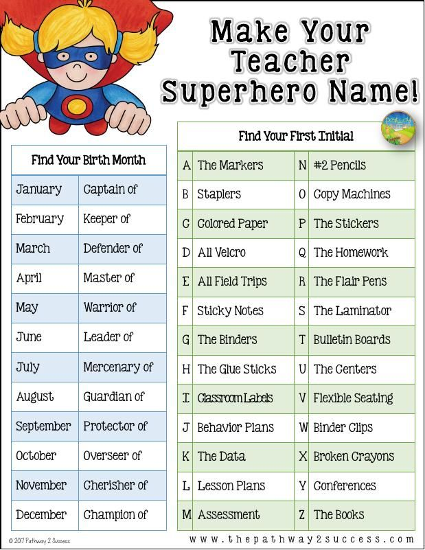 Teacher Superhero Name For Teacher Morale Teacher Morale Superhero Teacher Teacher Motivation