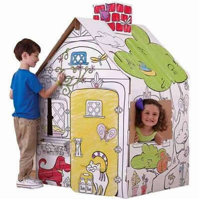 Pin By Sunshine On Play Houses Play Houses Coloring For Kids Kids Christmas