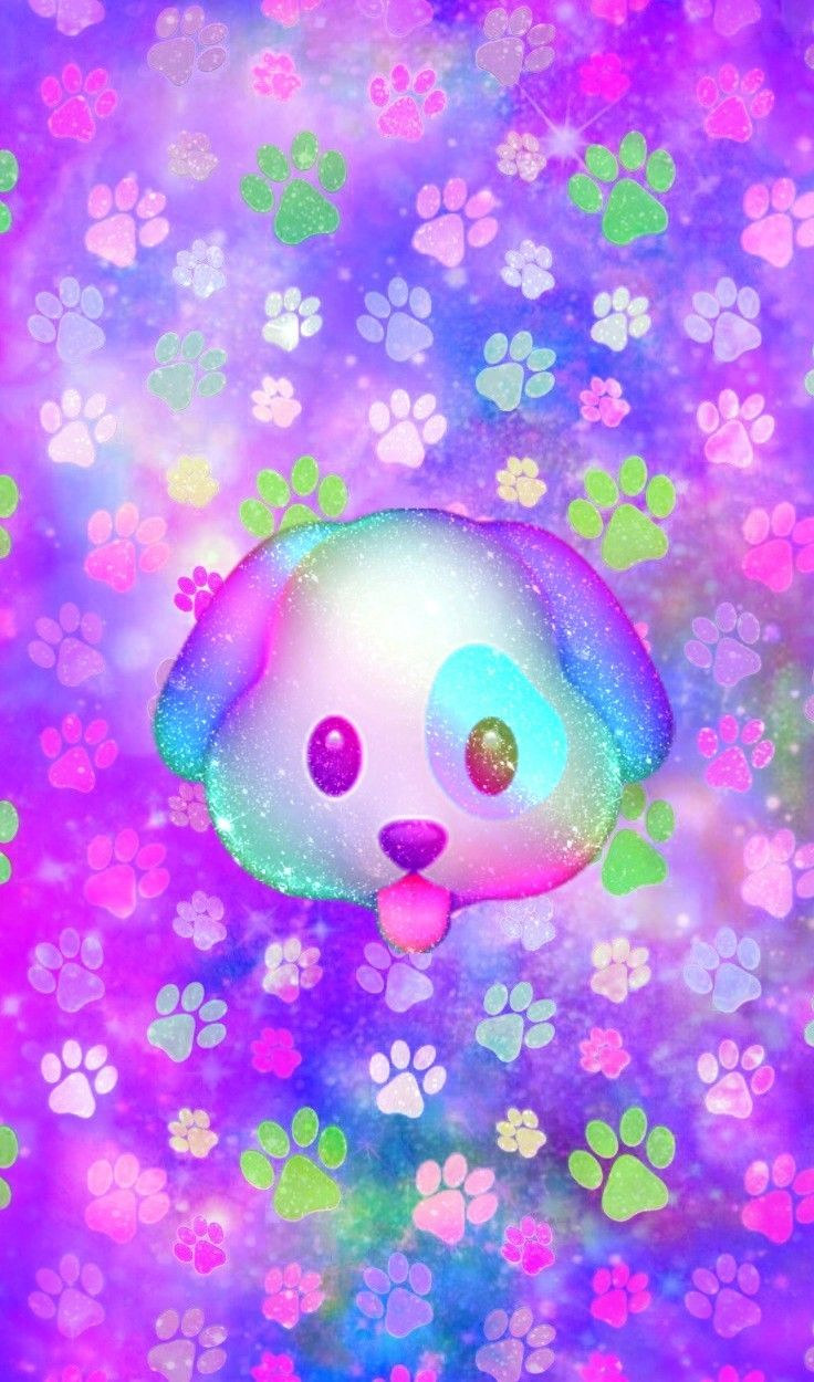 Galaxy Puppy Emoji, made by me Iphone fondos de pantalla