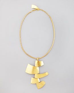 Y154G Herve Van Der Straeten Module Pendant Necklace