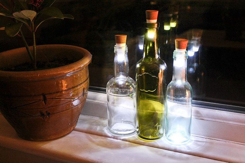 Turn Old Bottles Into Lamps With These Rechargeable LED Corks