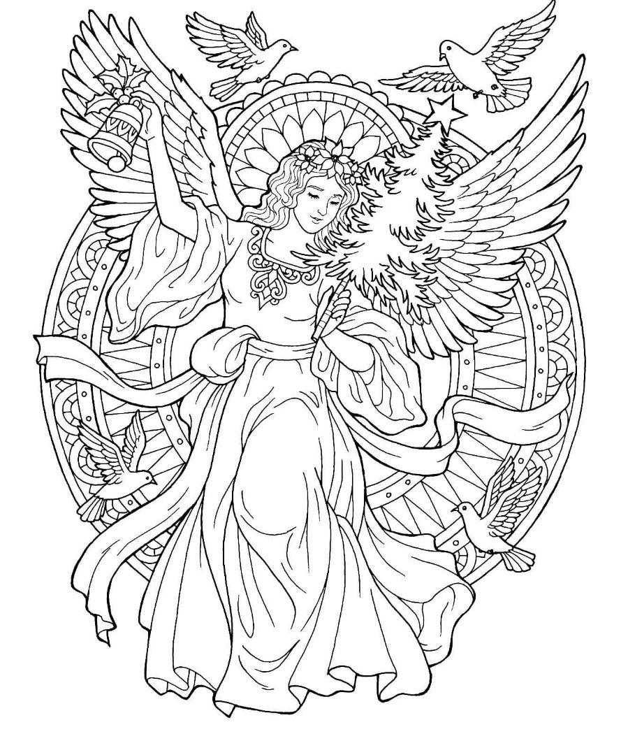 Christmas Angel Coloring Page Free Christmas Coloring Pages Angel Coloring Pages Printable Christmas Coloring Pages