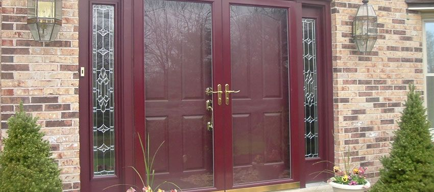 Storm doors for double entry door window ideas for Storm doors for double entry doors