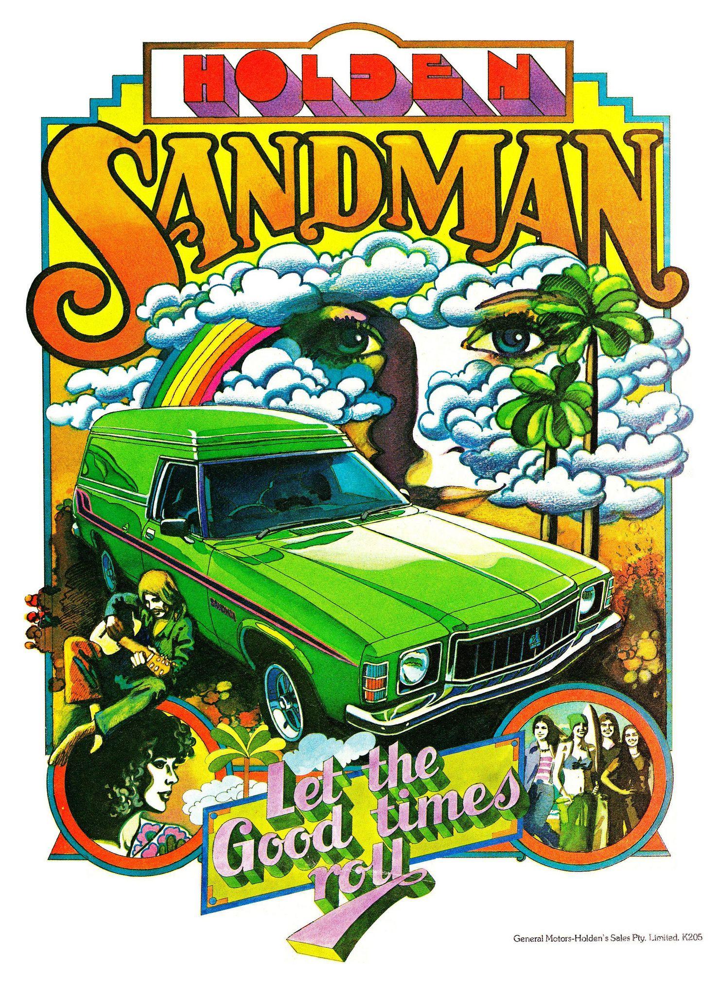 1978 HZ Holden Sandman Panel Van Aussie Original Magazine