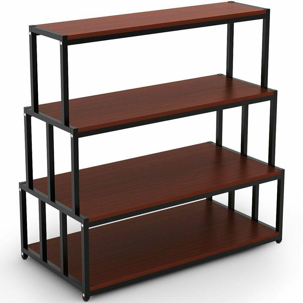 Ebay Sponsored 4 Tier Standing Bakers Rack Heavy Duty Open Storage Shelving Rack Shelf For Home Shelving Racks