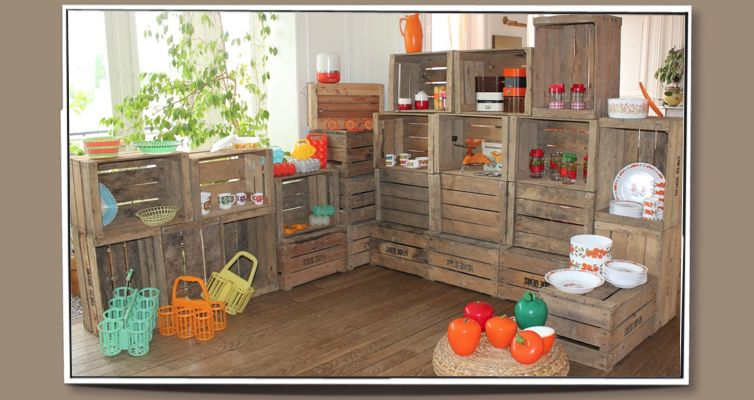 Caisses A Pommes En Bois Vintage Idees Deco Caisse Pomme