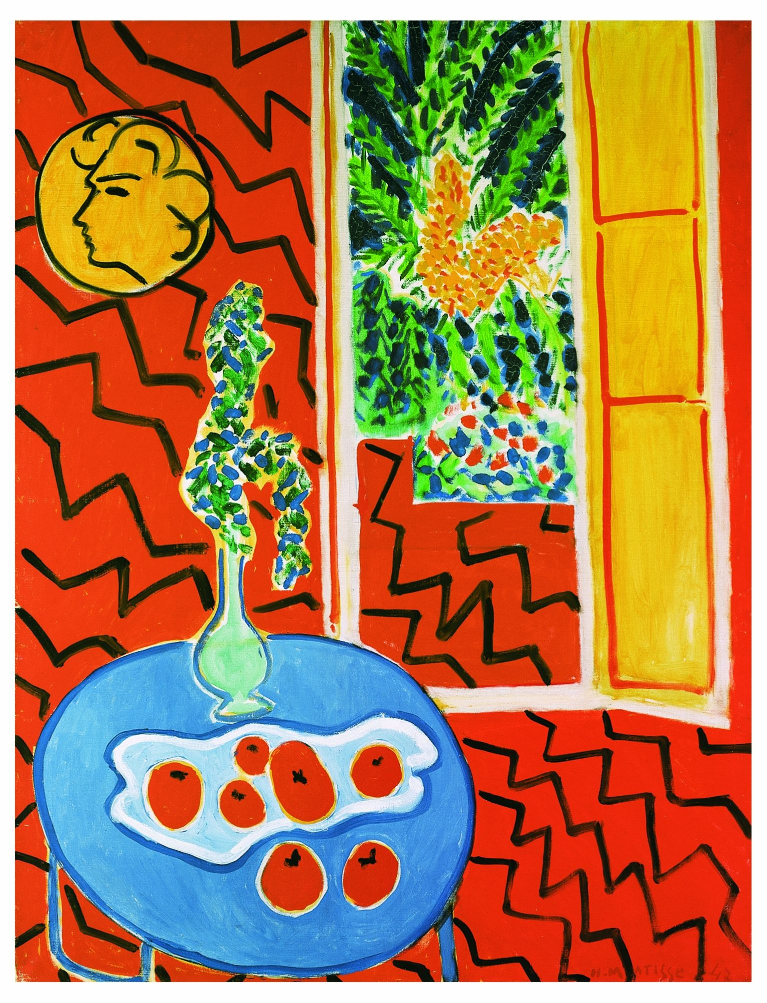 Henri matisse int rieur rouge 1947 kunst pinterest for Interieur rouge matisse