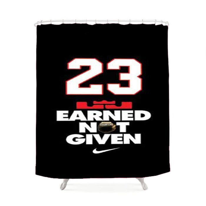 Michael Jordan Earned Not Given Shower Curtain Michael Jordan