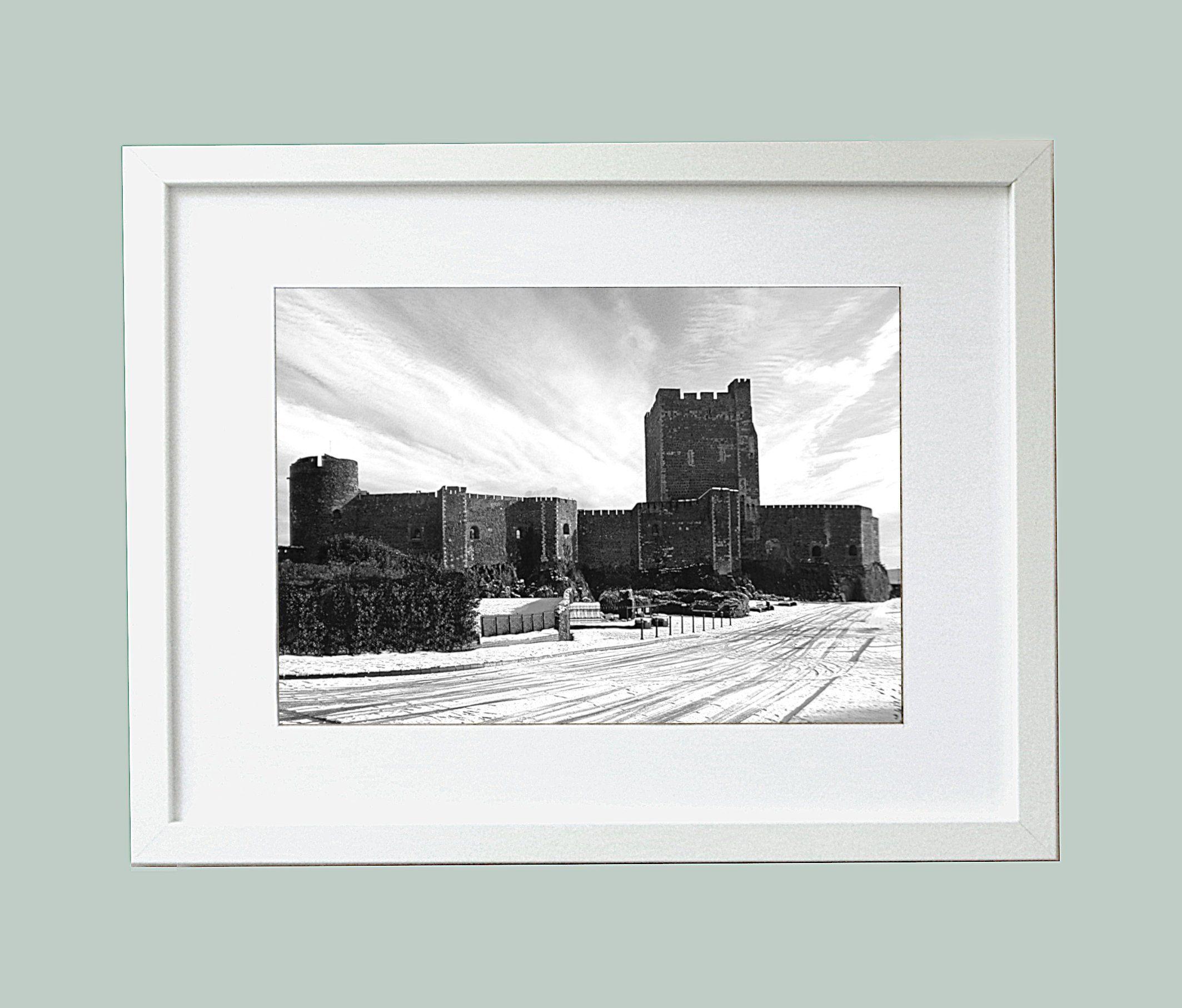 Monochrome photo carrickfergus castle fine art print county antrim from ireland by irishbarnvintage on etsy