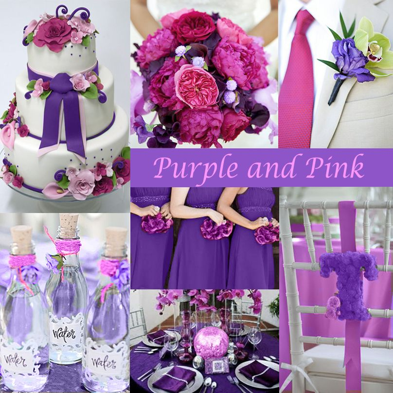 Purple And Pink Are Very Y Make A Nice Combination For Summer Wedding