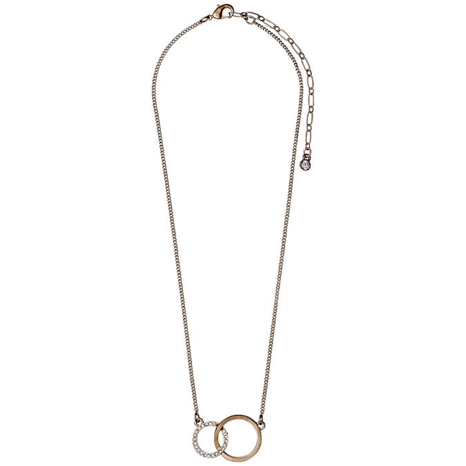 Pilgrim Rose Gold Crystal Necklace Debenhams Gold Crystal Necklace