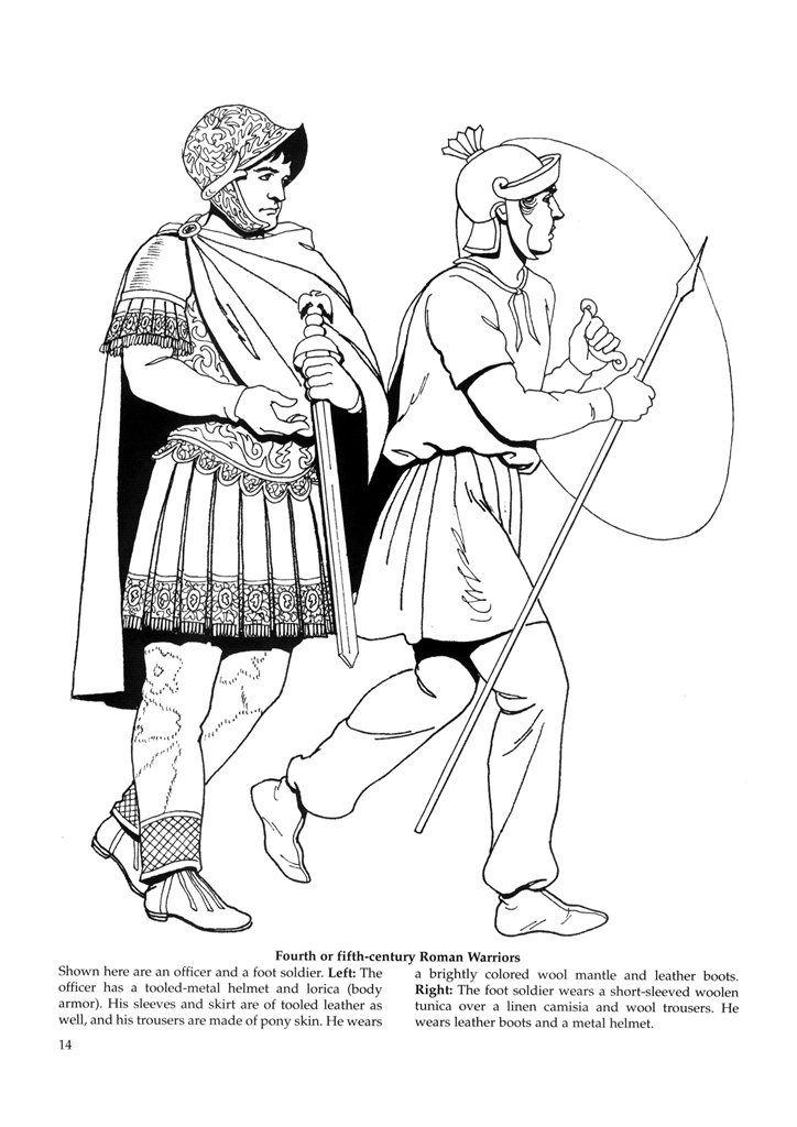 Byzantine Fashions 12 Colorir Desenhos Romano