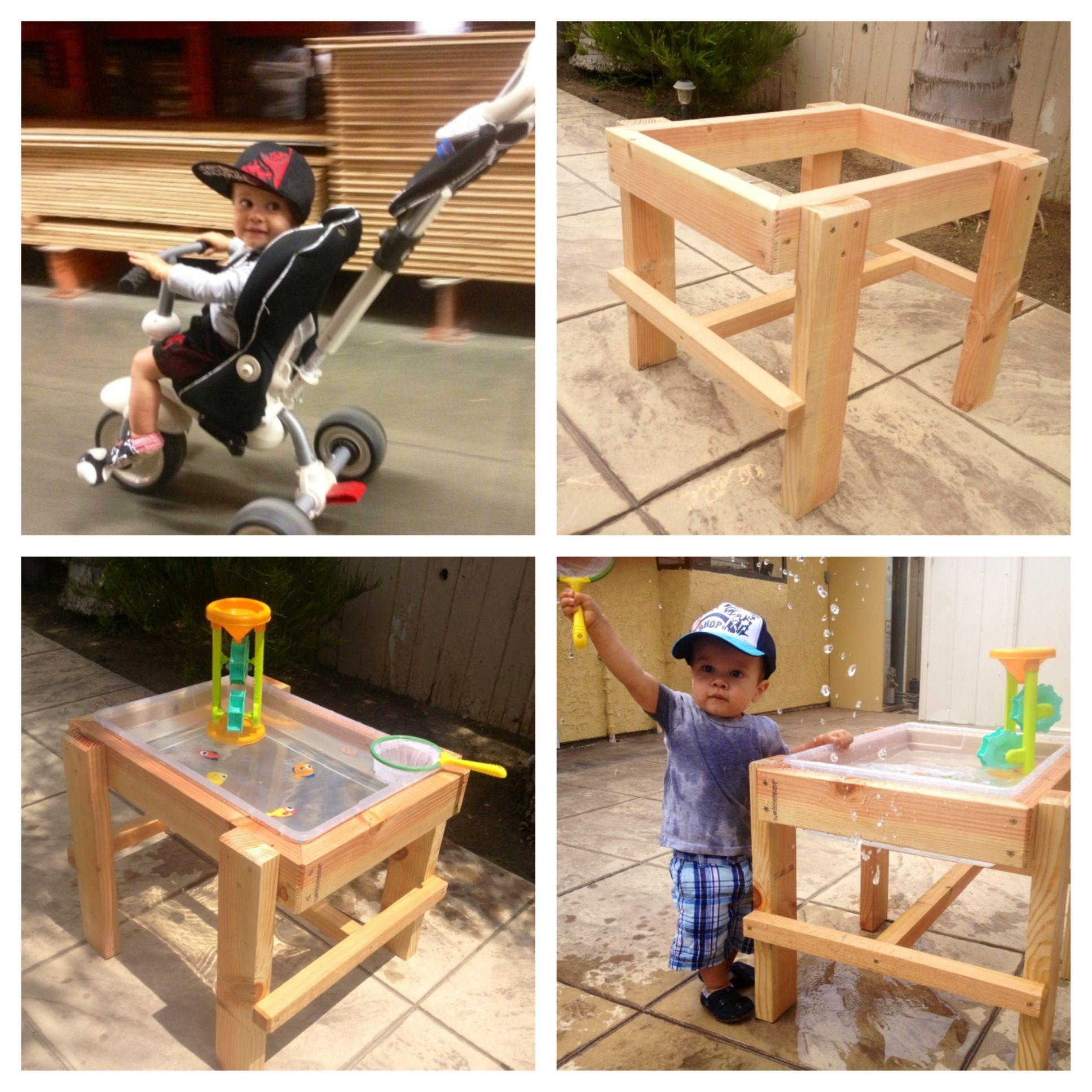 Exceptional DIY Water Table Under $20 Using Wood And A Rubbermaid Tub!