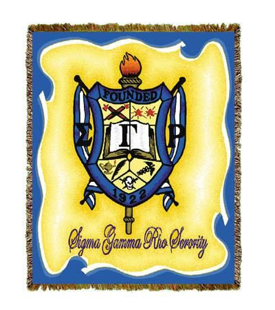 Afghan Throw Blanket With Images Sigma Gamma Rho Phi