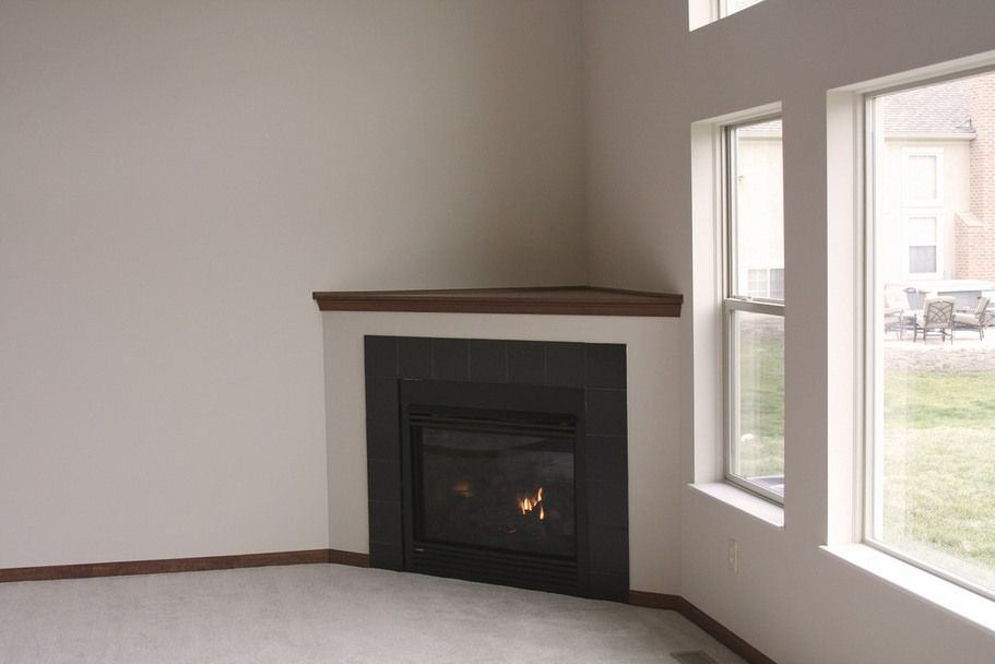 fireplace designs | Simple Ideas Corner Fireplace Tile | Corner ...