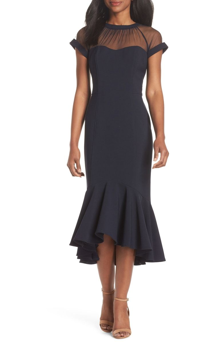 83fca201dba Free shipping and returns on Maggy London Illusion Neck Crepe Trumpet Dress  (Regular   Petite) at Nordstrom.com. Feminine elegance defines this  night-out ...