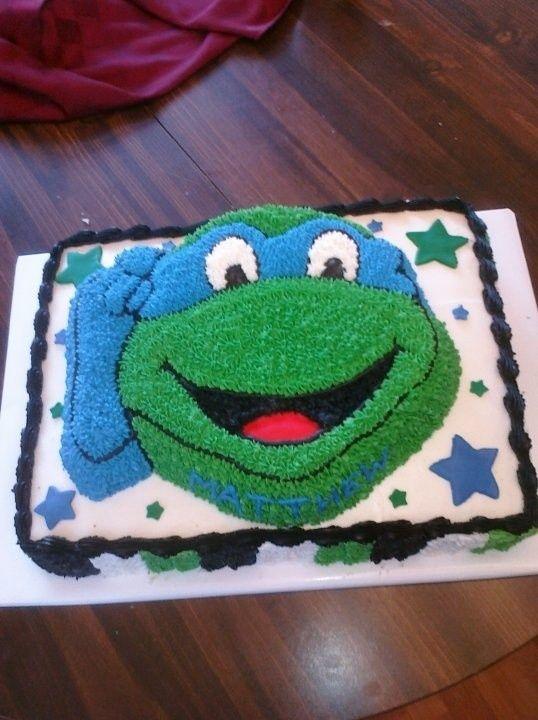Ninja turtle cake Sams bday Pinterest Ninja turtles Turtle