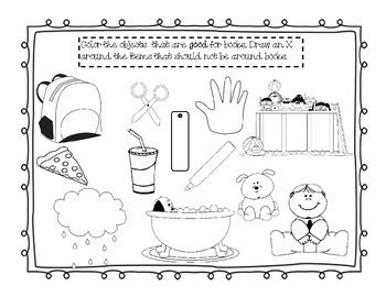 Printable Library Manners Book Care Worksheets Book Care Book Tasting Library Lessons