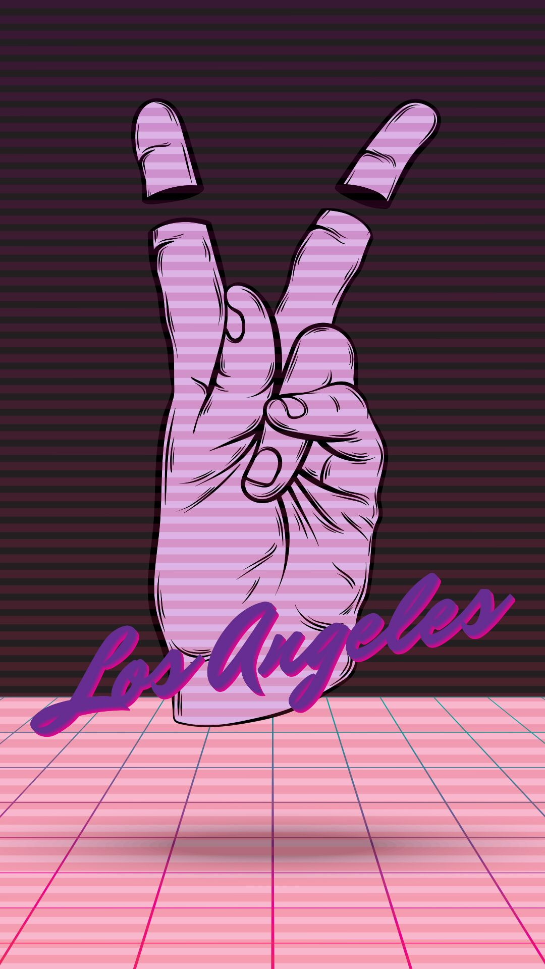Retro neon wallpaper for iPhone XS from Vibe App Neon