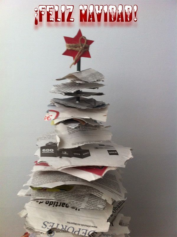 rboles de navidad originales papeles de peridico